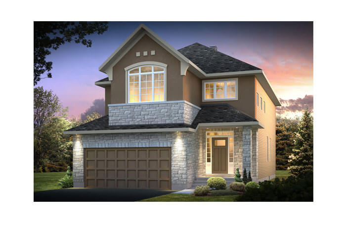 Berkshire 2 - A3 Chateau R Elevation - 2,549 sqft, 4 Bedroom, 2.5 Bathroom - Cardel Homes Ottawa