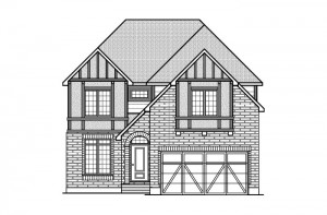 Ridgemont - R7 English Heritage Elevation - 2,701 sqft, 4 Bedroom, 2.5 Bathroom - Cardel Homes Ottawa