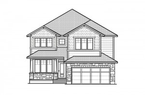 Ridgemont - R8 Canadiana Elevation - 2,701 sqft, 4 Bedroom, 2.5 Bathroom - Cardel Homes Ottawa