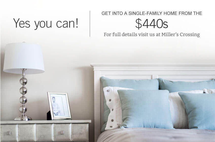Get into a single family home in Miller's Crossing in Ottawa by Cardel Homes from the $440s