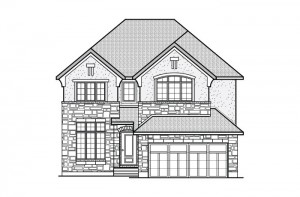 Ridgemont_R5rev_CHATEAU Elevation - 2,701 sqft, 4 Bedroom, 2.5 Bathroom - Cardel Homes Ottawa
