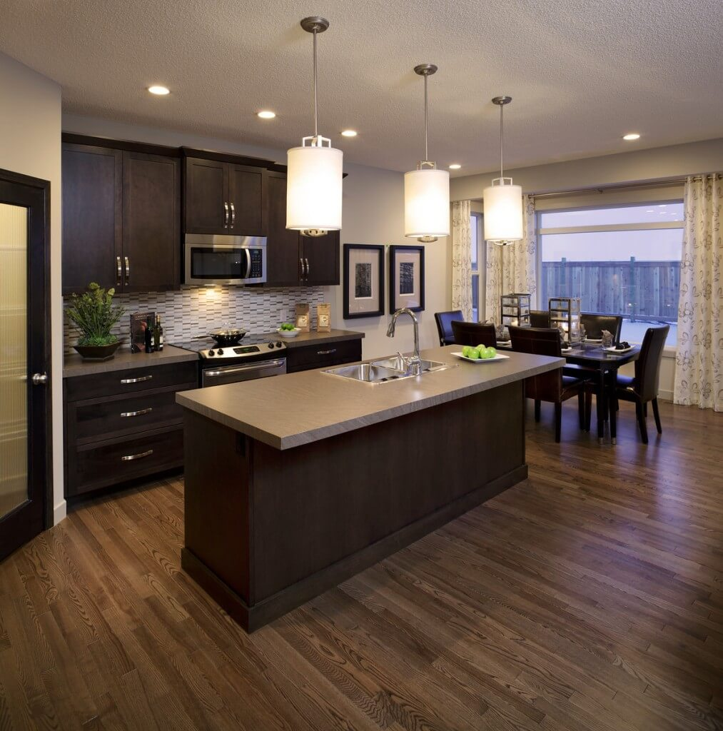 Dark Kitchen Cabinets Light Floors: New Home Model Orleans 2 In Walden, Calgary By Cardel Homes