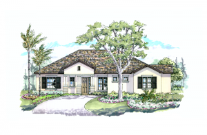 Azienda - Elevation B Elevation - 2,335 sqft, 3 Bedroom, 2.5 Bathroom - Cardel Homes Tampa