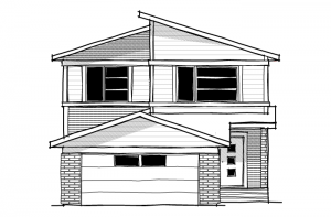 Tandem Bay 3 - Eichler F2 Elevation - 2,243 sqft, 3 Bedroom, 2.5 Bathroom - Cardel Homes Calgary