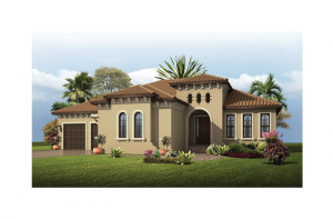 Wilshire - Mizner Elevation - 2,989 - 3,069 sqft, 4 Bedroom, 3 Bathroom - Cardel Homes Tampa