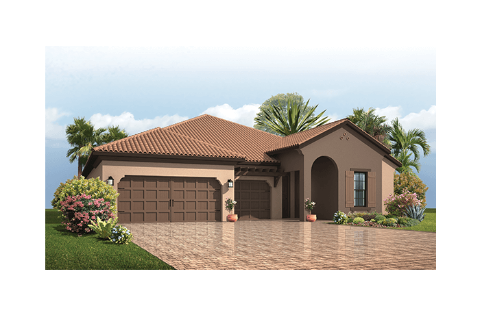 Endeavor 3 FHR - Mediterranean Elevation - 2,500 - 3,108 sqft, 4 - 5 Bedroom, 3 - 4 Bathroom - Cardel Homes Tampa
