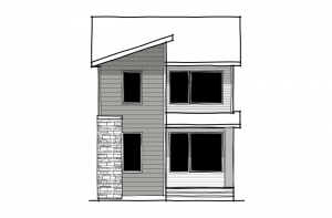 Tarmon - Eichler F1 Elevation - 1,620 sqft, 3 Bedroom, 2.5 Bathroom - Cardel Homes Calgary