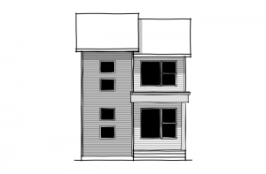 Tarmon - Urban Modern F3 Elevation - 1,620 sqft, 3 Bedroom, 2.5 Bathroom - Cardel Homes Calgary