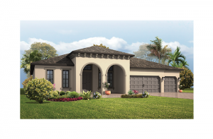 Grand Cayman - Mediterranean Elevation - 3,032 - 3,432  sqft, 4 - 5 Bedroom, 3 - 4 Bathroom - Cardel Homes Tampa