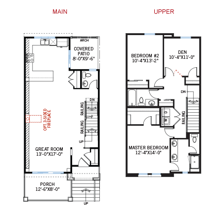 New Denver Towns Home Quick Possession Turin Floorplan in Solterra, located at 2614 S. Orion Street<br /> Lakewood, CO Built By Cardel Homes Denver