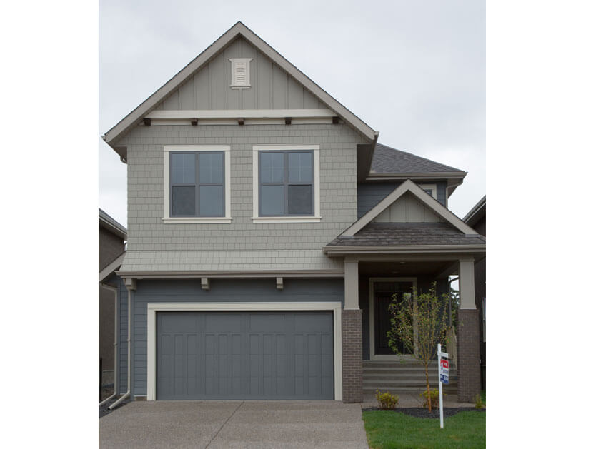 New Calgary Single Family Home Quick Possession Larch in Shawnee Park, located at 747 SHAWNEE DRIVE SW Built By Cardel Homes Calgary