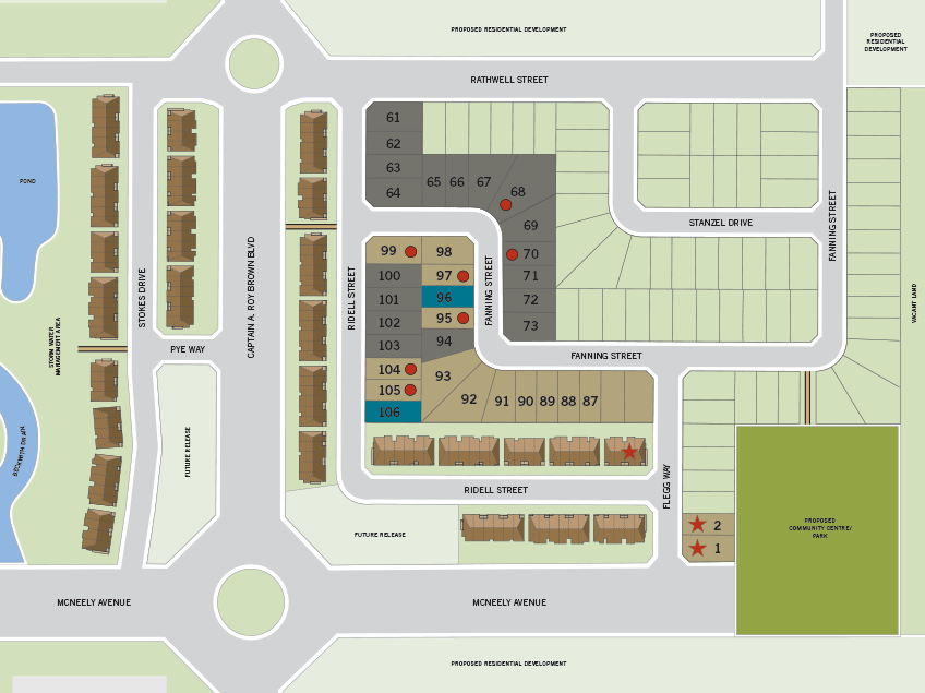 Miller's Crossing Lot Map in Ottawa by Cardel Homes