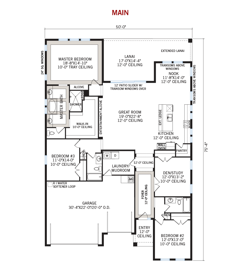 New Tampa Single Family Home Quick Possession Endeavor 3 Floorplan in Lakewood Ranch, located at 14216 Woodhall Place<br /> Lakewood Ranch, FL, 34202 Built By Cardel Homes Tampa