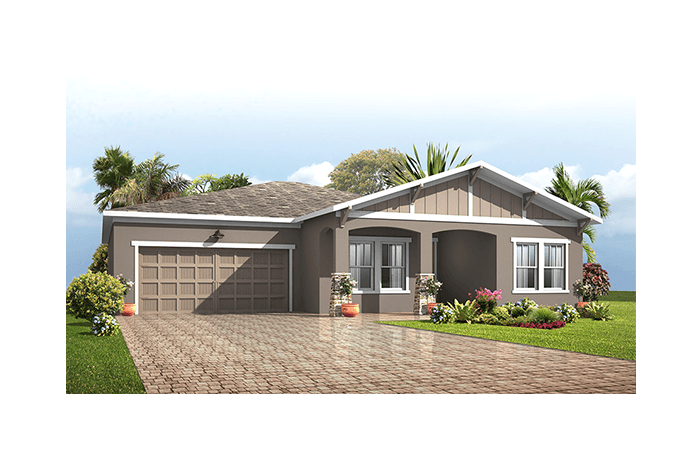 Independence - Craftsman Elevation - 2,000 sqft, 4 Bedroom, 2 Bathroom - Cardel Homes Tampa
