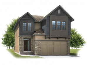 Sitka - Shingle S1 Elevation - 2,234 sqft, 3 Bedroom, 2.5 Bathroom - Cardel Homes Calgary