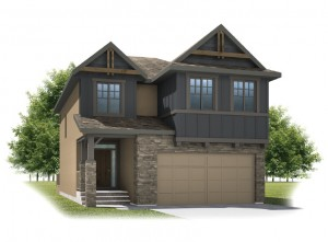 Sitka - Rustic S2 Elevation - 2,234 sqft, 3 Bedroom, 2.5 Bathroom - Cardel Homes Calgary