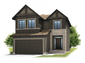 MIRO - Rustic S2 Elevation - 2,028 sqft, 3 Bedroom, 2.5 Bathroom - Cardel Homes Calgary