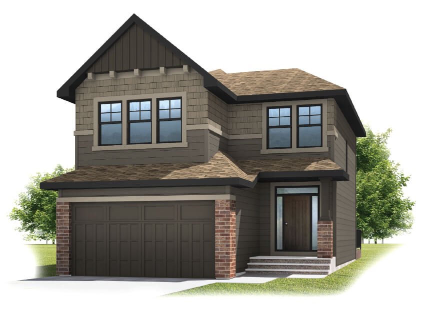 MIRO - Shingle S1 Elevation - 2,028 sqft, 3 Bedroom, 2.5 Bathroom - Cardel Homes Calgary