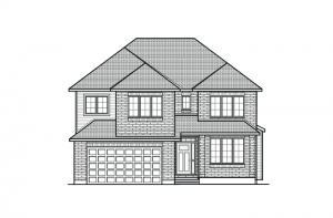 Barrington - A2 Traditional Elevation - 2,531 sqft, 4 Bedroom, 2.5 Bathroom - Cardel Homes Ottawa