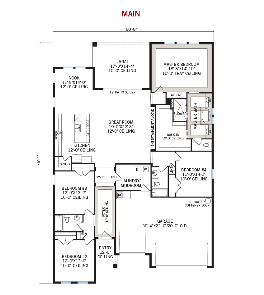 New Tampa Single Family Home Quick Possession Endeavor 3 Floorplan in Waterset, located at 6538 Mayport Drive<br />