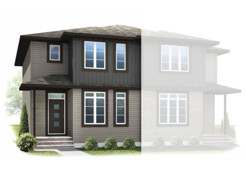 New Calgary Paired Home Quick Possession Cobalt 2 in Savanna, located at 224 SAVANNA ROAD NE Built By Cardel Homes Calgary