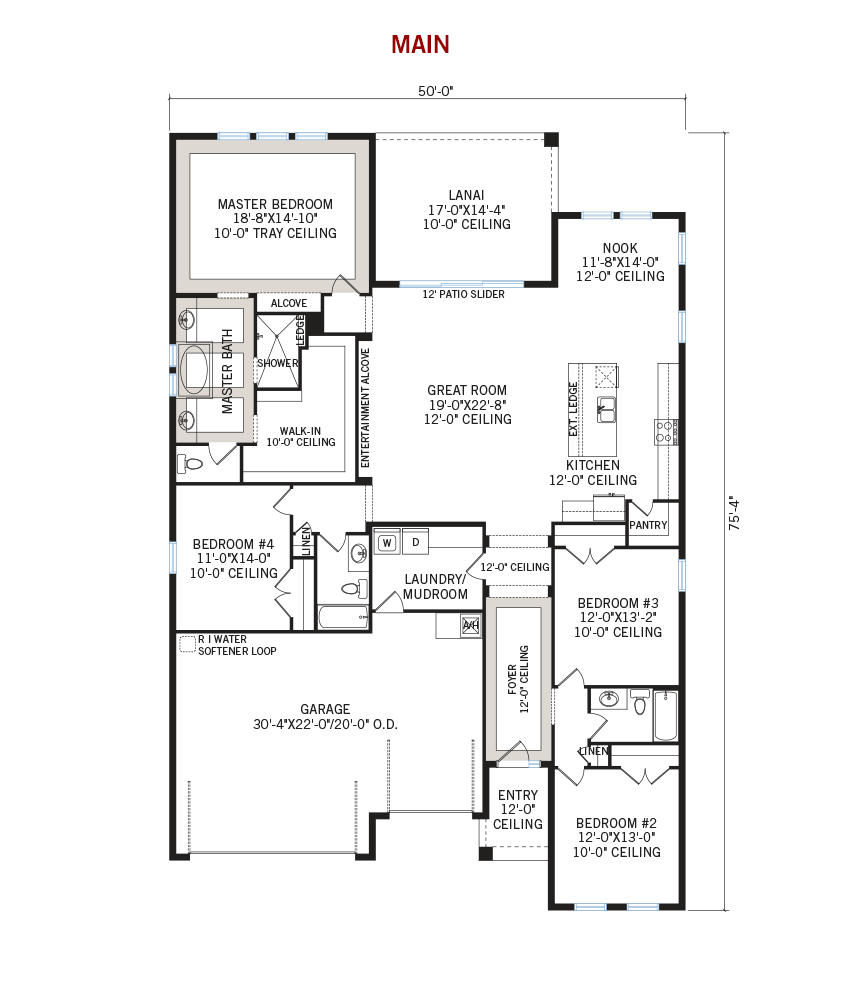 New Tampa Single Family Home Quick Possession Endeavor 3 Floorplan in Waterset, located at 6514 MAYPORT DRIVE<br /> APOLLO BEACH, FL 33572 Built By Cardel Homes Tampa