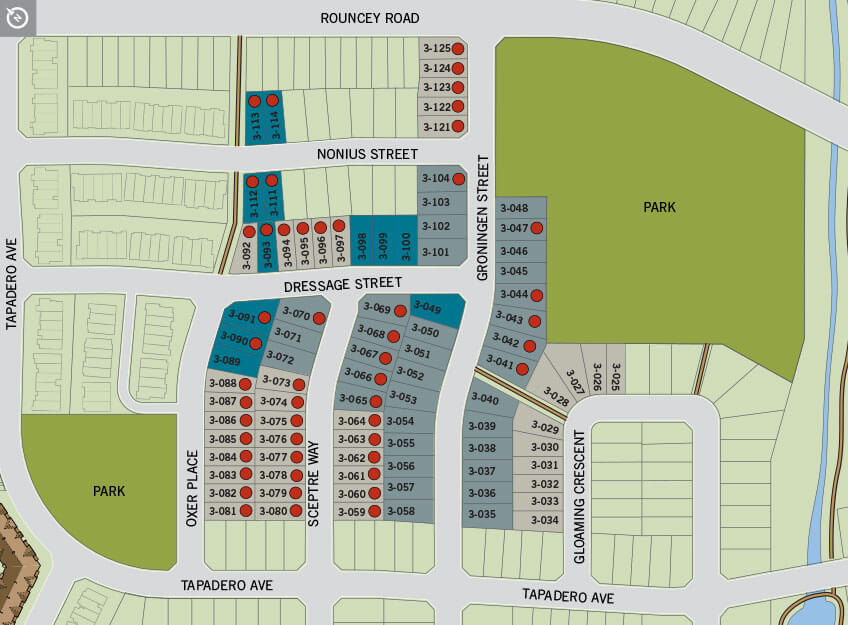 Lot Map Cardel Homes