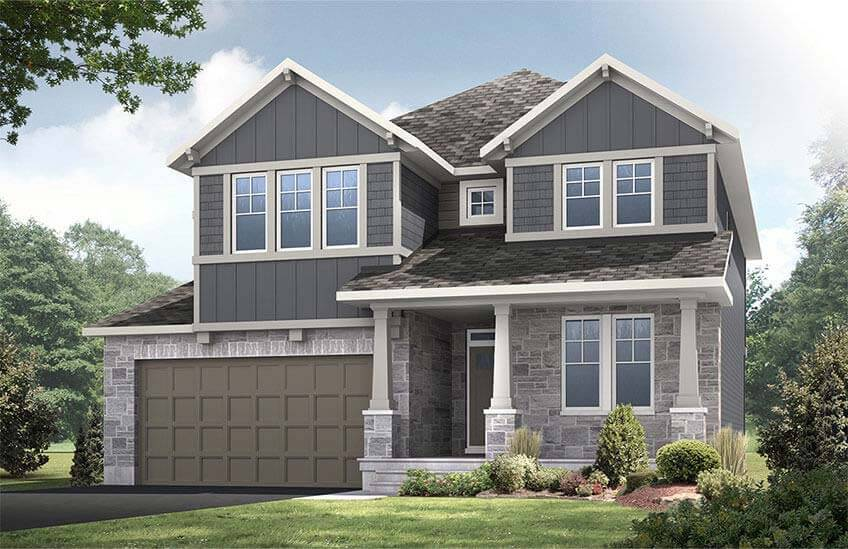Rendered image of a single family home in Creekside, Ottawa by Cardel Homes