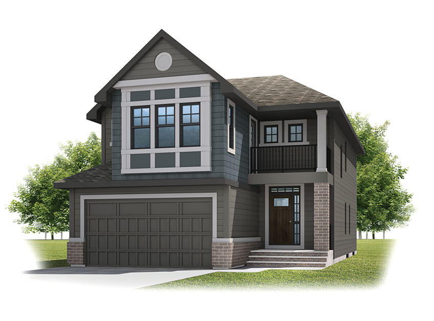 New Calgary Single Family Home Quick Possession Preston in Shawnee Park, located at 331 SHAWNEE BOULEVARD SW Built By Cardel Homes