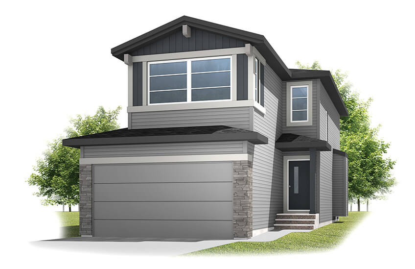 New Calgary Single Family Home Quick Possession Sandhurst 2 in Walden, located at 40 Walgrove Gardens SE Built By Cardel Homes Calgary