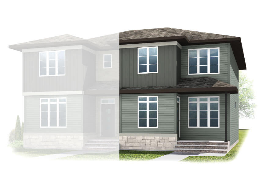 New Calgary Paired Home Quick Possession Indigo 1 in Savanna, located at 268 SAVANNA ROAD NE Built By Cardel Homes Calgary
