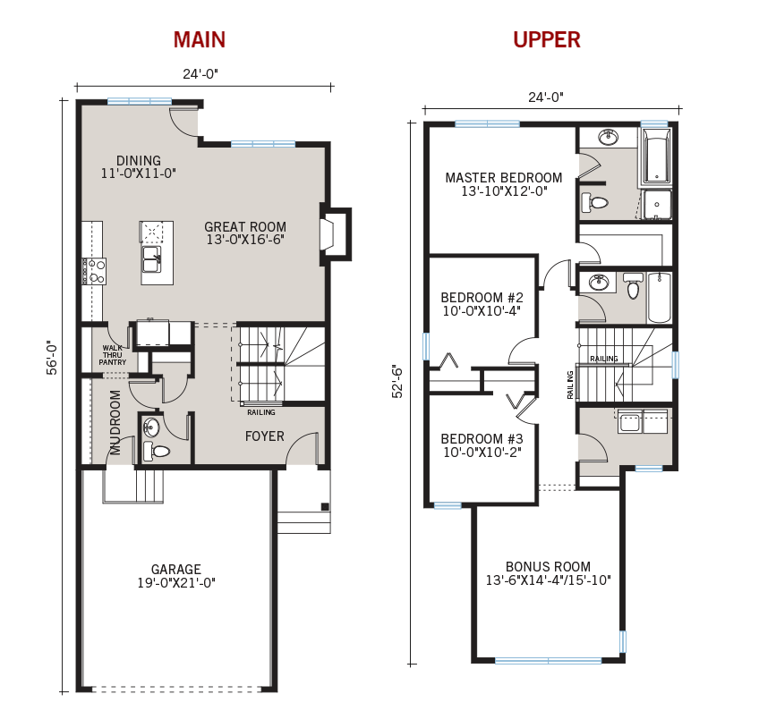 New Calgary Single Family Home Quick Possession Sandhurst 2 Floorplan in Walden, located at 44 Walgrove Gardens SE Built By Cardel Homes Calgary