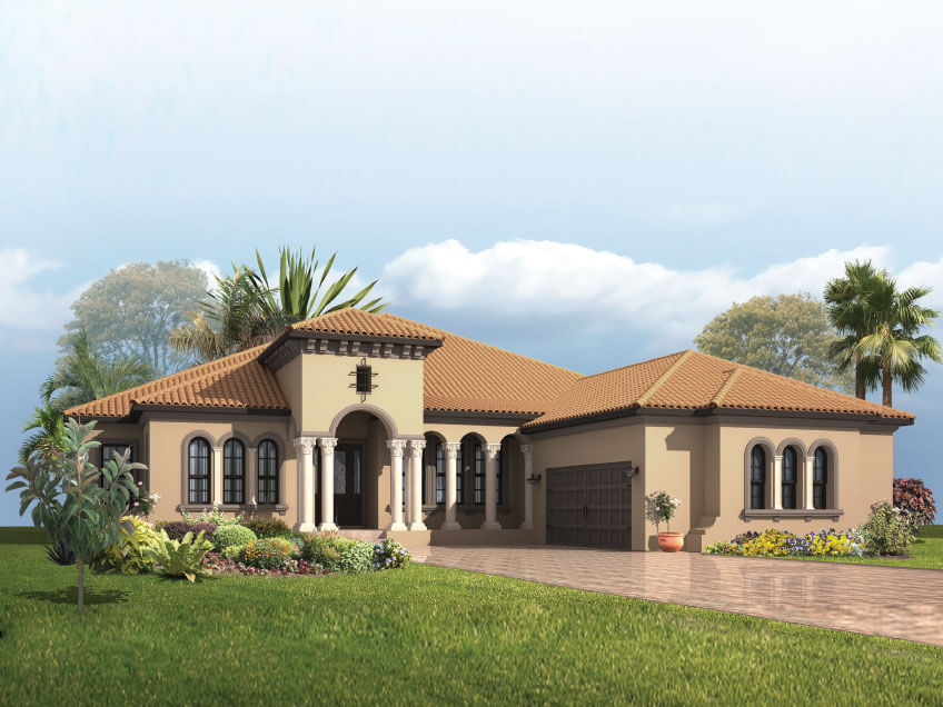 New Tampa Single Family Home Quick Possession Dolcetto 3 in Lakewood Ranch, located at 16814 Berwick Terrace<br />