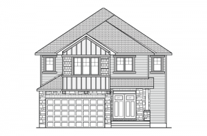 Bristol CS - Canadiana A1 Elevation - 2,646 sqft, 4 Bedroom, 2.5 Bathroom - Cardel Homes Ottawa