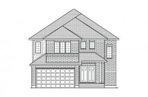 Bristol CS - Traditional A2 Elevation - 2,646 sqft, 4 Bedroom, 2.5 Bathroom - Cardel Homes Ottawa