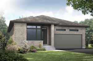 Lancaster CS - Modern Urban A3 Elevation - 1,678 sqft, 3 Bedroom, 2.5 Bathroom - Cardel Homes Ottawa