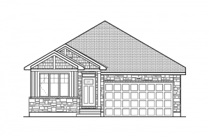 Lancaster CS - Canadiana A1 Elevation - 1,678 sqft, 3 Bedroom, 2.5 Bathroom - Cardel Homes Ottawa