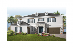 Taramore - Provincial Chateau Elevation - 3,807 sqft, 4 - 5 Bedroom, 3.5 - 4.5 Bathroom - Cardel Homes Tampa