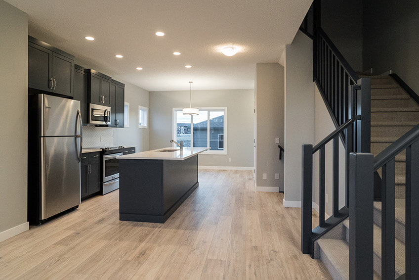 New Calgary Paired Home Quick Possession Cobalt 1 in Walden, located at 1346 Walden Drive SE Built By Cardel Homes