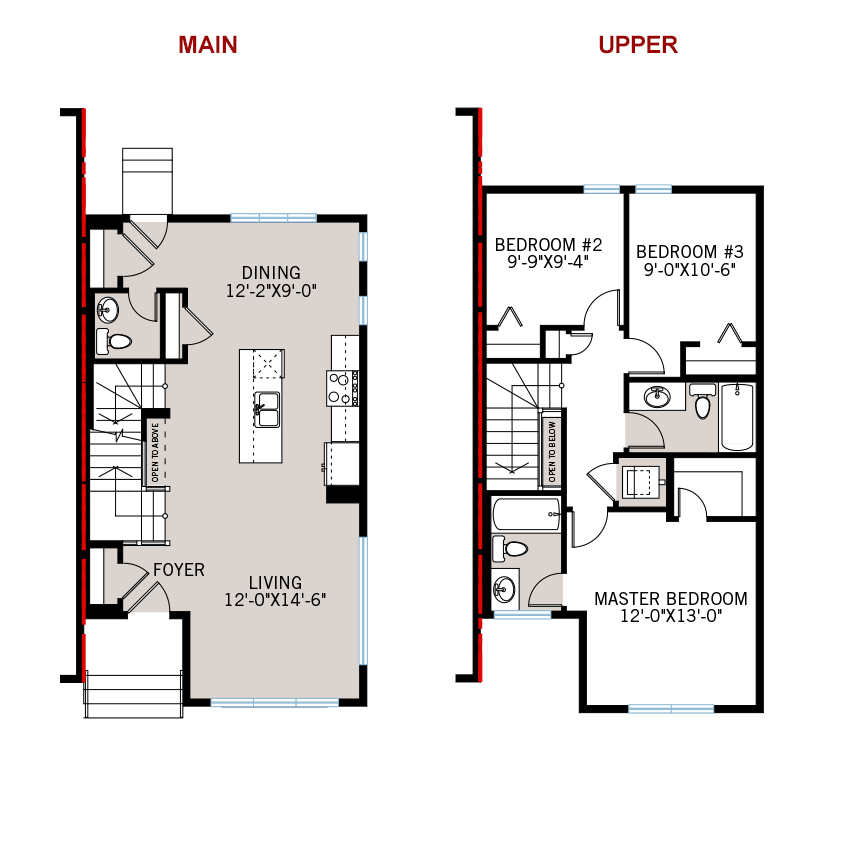 New Calgary Paired Home Quick Possession Cobalt 1 Floorplan in Walden, located at 1326 Walden Drive SE Built By Cardel Homes Calgary