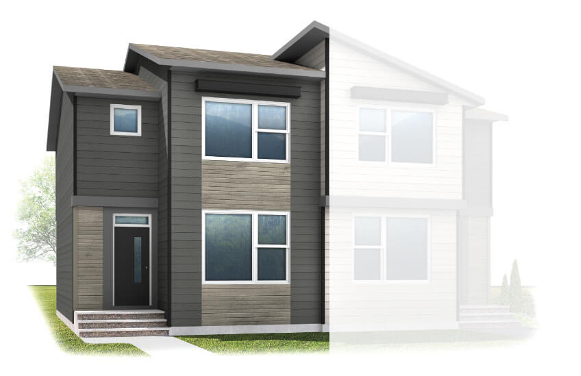 New Calgary Paired Home Quick Possession Soho 2 in Walden, located at 1341 Walden Drive SE Built By Cardel Homes Calgary