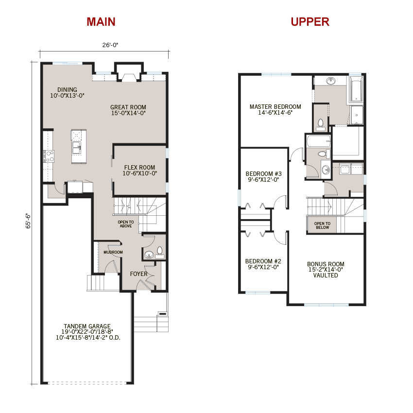 New Calgary Single Family Home Quick Possession Tandem Bay Floorplan in Walden, located at 264 Walgrove Heath SE Built By Cardel Homes Calgary