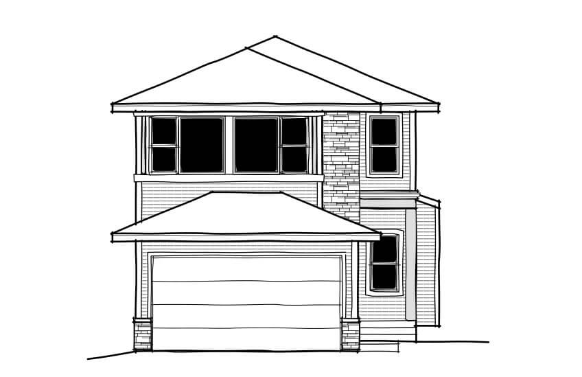 New Calgary Single Family Home Quick Possession Colbourne 2 in Walden, located at 48 Walgrove Gardens SE Built By Cardel Homes Calgary