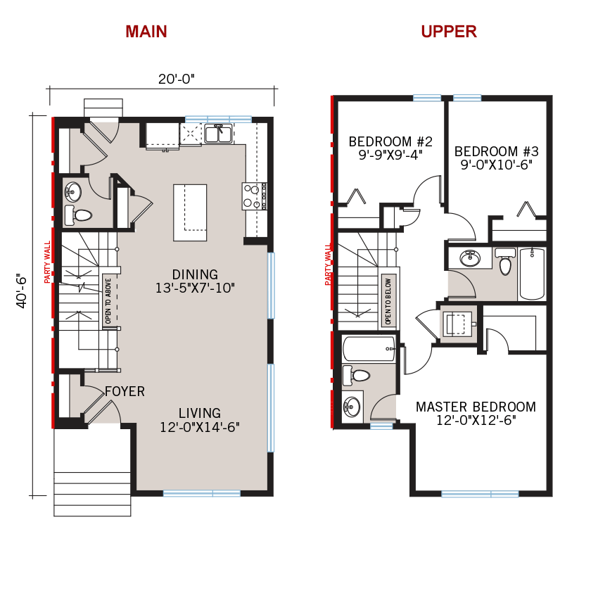 New Calgary Paired Home Quick Possession Cobalt 1 Floorplan in Walden, located at 48 Walgrove Drive SE Built By Cardel Homes Calgary