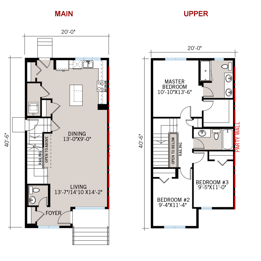 New Calgary Paired Home Quick Possession Indigo 1 Floorplan in Savanna, located at 9124 - 52 Street NE Built By Cardel Homes Calgary