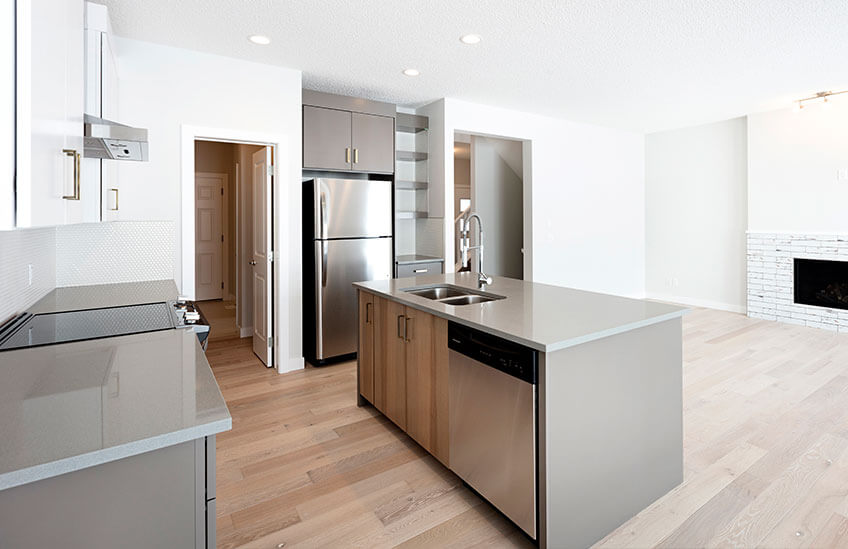 New Calgary Single Family Home Quick Possession Sandhurst 2 in Walden, located at 109 Walgrove Gardens SE Built By Cardel Homes