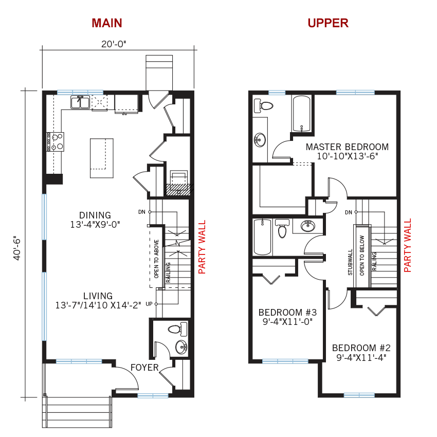 New Calgary Paired Home Quick Possession Indigo 1 Floorplan in Walden, located at 1338 Walden Drive SE Built By Cardel Homes Calgary
