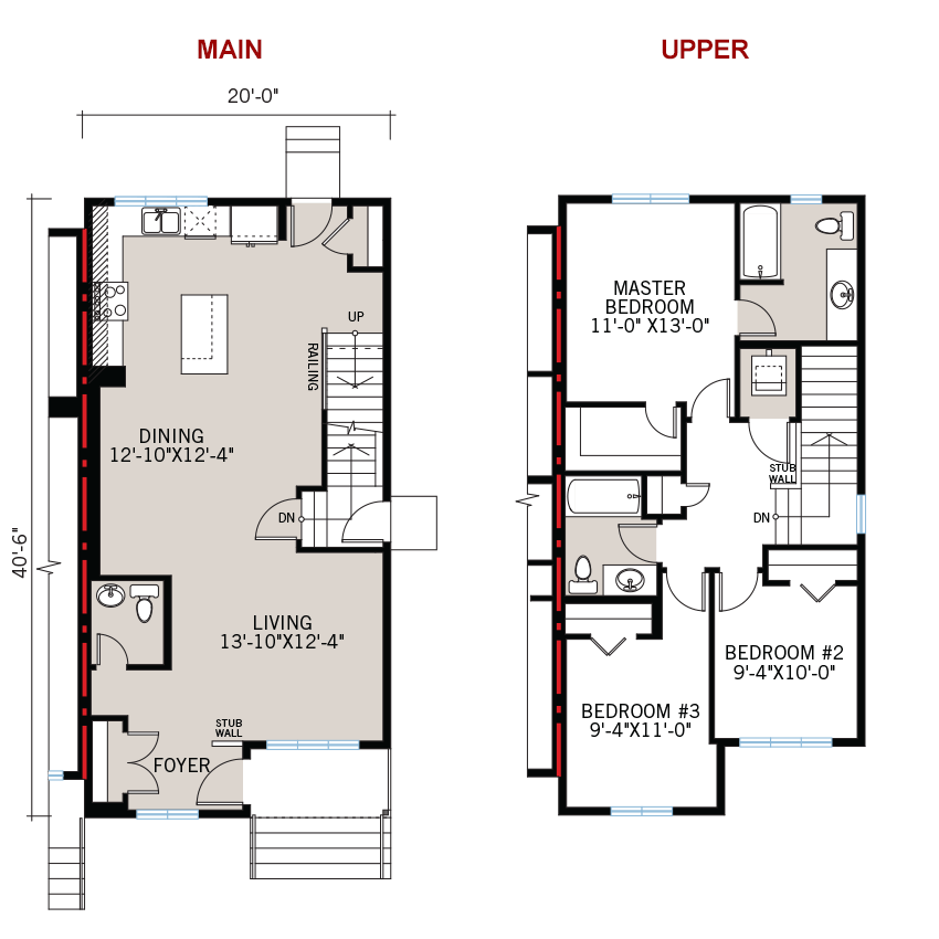 New Calgary Paired Home Quick Possession Indigo 2 Floorplan in Savanna, located at 9112 - 52 Street NE Built By Cardel Homes Calgary