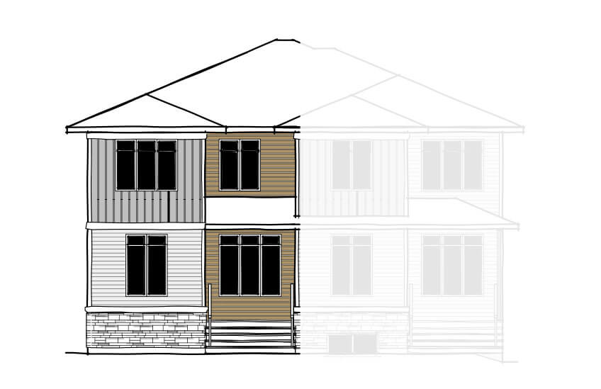 New Calgary Paired Home Quick Possession Indigo 1 in Savanna, located at 9116 - 52 Street NE Built By Cardel Homes Calgary