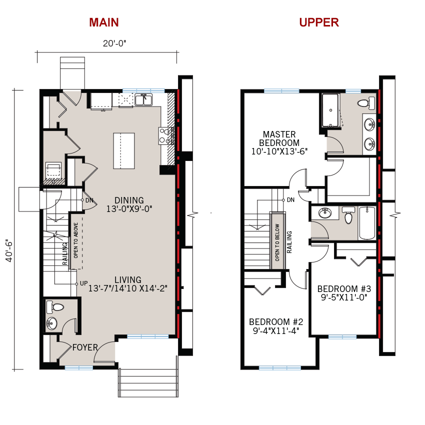 New Calgary Paired Home Quick Possession Indigo 1 Floorplan in Savanna, located at 9116 - 52 Street NE Built By Cardel Homes Calgary